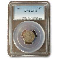 1844 Seated Liberty Dime PCGS VG10  ***Rev Tye's Coin Stache*** #5651266