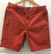 Mens Asos Slim Fit Cotton Chino Shorts Size Medium Waist 81cm/32'' Red/Orange