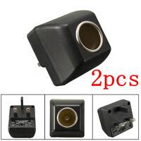 2Pc 110V - 240V AC Plug To 12V DC Car Cigarette Lighter Converter Socket Adapter