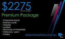 Logo + Business Cards + Website + Leaflets + Brochures + Stationary + Folders