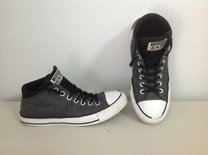 Womens Converse high top Chuck Taylor sneakers,shoes,boots,size 9,canvas,gray