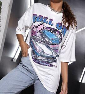 Shein Roll On Oversized T-shirt - Size Medium -