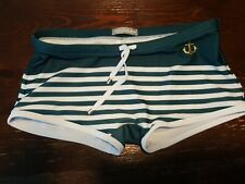 SEOBEAN ~ Men's XL, runs medium Nautical SEXY MINIMALIST Surf Pouch Swim Shorts