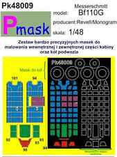 MESSERSCHMITT BF110G PAINTING MASK TO AIRFIX AND MONOGRAM KIT #48009 1/48 PMASK