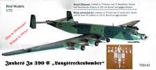 Junkers Ju 390 C Fernbomber mit DB604   1/72 Bird Models Resin conversion kit