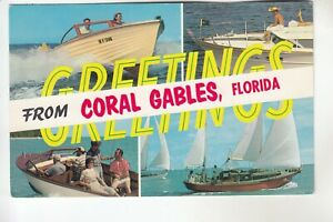 4 View Greetings from Coral Gables FL