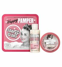 Soap and Glory feliz mimar Mini Conjunto de Regalo Cuidado Piel// Cuerpo/Mantequilla/Ducha/Gel/Nuevo