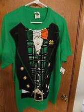 Lucky Tee Shirt IRISH Bowtie Suit T-shirt XL Green ST. PATRICK'S DAY NEW W/TAG