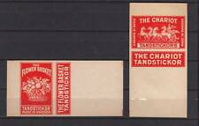 Ancienne étiquette allumettes Suède Cheveaux Fleurs