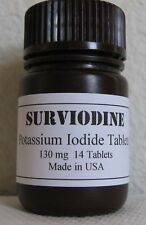 (4) BOTTLES Potassium Iodide Tablets Iodine Pills 130mg Nuclear Radiation Block