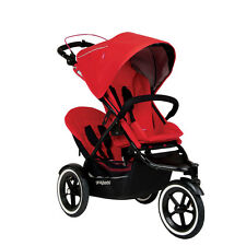 Phil & Teds 2016 Sport Stroller & Double Kit Cherry- Includes Double Seat! New!