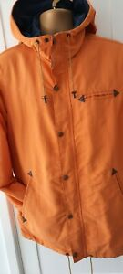 "Levi's hoodedJacket Coat Mens Orange L Chest 46"""