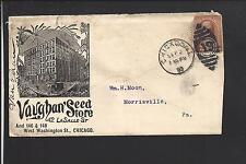 CHICAGO,ILLINOIS COVER 1887, VAUGHAN' SEED STORE. ENCLOSURE.