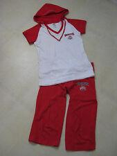 Ohio State Buckeyes Outfit /Rhinestones Capris & Short Sleeve Hooded Top/ BNWOT
