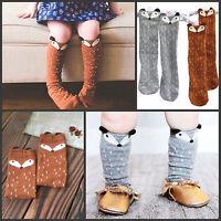 Baby Kids Girl Cotton Fox Pattern Knee High Socks 0 to 6 years Spring&Autumn