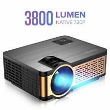 New Xiaoya W5 Native 720P Mini Movie Projector Hifi Speaker 3800 Lumen Video VGA
