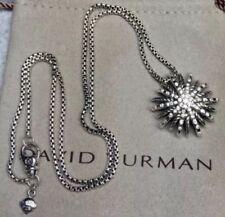 David Yurman Medium Starburst Pendant In Sterling Silver