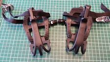 PAIR BIKE VP-335 PEDALS & VP-713 TOE CLIPS WITH STRAPS 9/16""