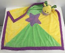 Baby Ganz Purple Yellow Green Plush Cow Giraffe Lovey Star Security Blanket