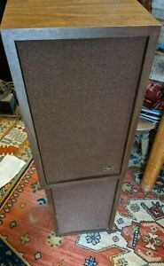 PAIR 2 Bozak B-201-a Sonora Speakers Rare vtg Solid Heavy Wood Tested Working
