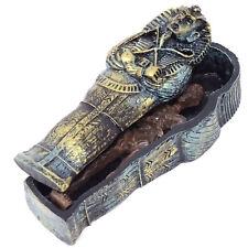 Decorazione acquario antico Egitto MUMMIA nel SARCOFAGO realistica resina decoro