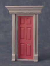 1:12 Échelle Rose Bois Peint Fairy Ouverture Porte Dolls Maison Accessoire 696A