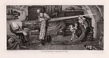 Historic 1800s FORD MADOX BROWN Etching 1639 Transit of Venus SIGNED Framed COA