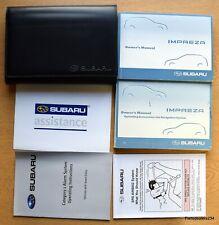 GENUINE SUBARU IMPREZA HANDBOOK OWNERS MANUAL WALLET NAVI 2007–2010 PACK K-451!