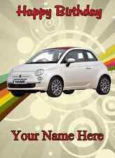 FIAT 500 AUTO TANTI AUGURI A5 biglietto d'auguri personalizzato pid068
