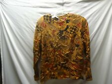 Women's Jones Wear Top Size 16  long  sleeve top/ Career  padded shoulders