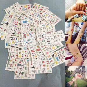 10 Sheets Temporary Tattoos Sticker Fake Tatoo Body Art Toy for Kids Children