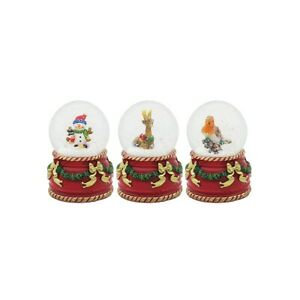 Christmas waterballs group of 3 - snowman, reindeer and robin 6cm x 7cm