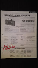 sharp gf-3939 d Service Manual Original Repair book boombox ghettoblaster tape