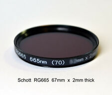 Schott RG665 67mm x 2mm thick, 665nm Infrared Longpass Filter, Color IR