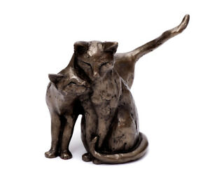 Cat Sculptures Made of Poly Resin Animal Figurine Deco Couple Heavy
