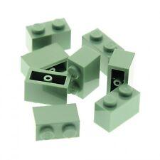 8 x Lego System Bau Stein 1x2 sand grün 70912 41188 7419 10228 7194 10230 3004