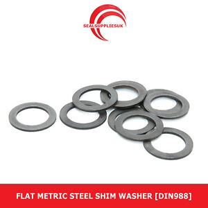 Flat Metric Steel Shim Washer : 0.1mm Thickness [DIN988]