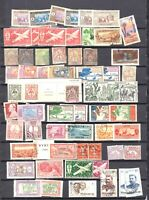 FRANCE COLONIES STOCK PAGE COLLECTION LOT 61 STAMPS NEW CALEDONIA SOMALIS MORE