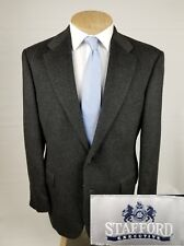 Stafford Executive Mens Sport Coat 42R Charcoal Gray Camel Hair Blazer 2 Button
