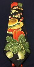 Florence Men's Necktie Food Cook Cookout Hamburger Veggies Candy Summer