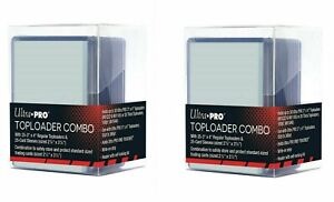 2 x ULTRA PRO TOPLOADER Combo Set 25 x Toploaders + 25 x Sleeves in Each Box