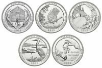 2015 NATIONAL PARKS STATE QUARTERS P D 10 COINS UNCIRCULATED COMPLETE SET MINT