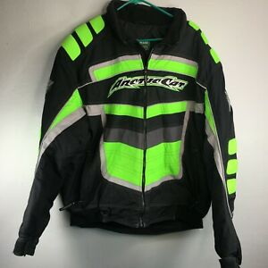 Artic Cat Arcticwear Velocity Snowmobile Jacket 4260-907 Mens Sz XLT Black Green