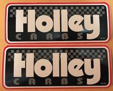 "2 pcs HOLLEY CARBS NASCAR NHRA 9"" X 3.50"" large racing decals/stickers"