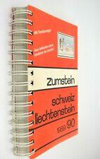 Zumstein Switzerland Liechtenstein 1990 Stamp Catalog in French & German Color