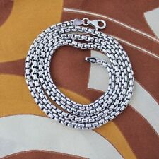 """20""""  925 Silver Plated BOX Chain Necklace Men's Christmas Birthday Gift"""