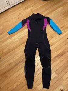 LKNEW ROXY IGNITE 4/3mm Zip Wetsuit PNLITE NEOPRENE Black Purple Turquoise Sz 14