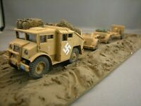 Plastic Soldier Company 25pdr, 2 x caissons & CMP tractor in German Service 1/72