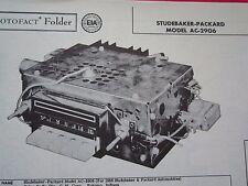 1958 STUDEBAKER & PACKARD AC-2906 RADIO PHOTOFACT