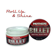 Mother Billet Metal Polish 4oz 113g & Qty 2 Buffing Cloths, Applicators